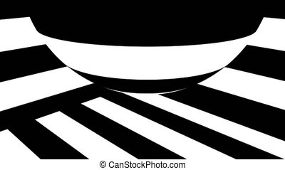 informatique, render, résumé, engendré, fond, noir, stripes., blanc, 3d