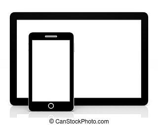 informatique, téléphone., tablette, intelligent