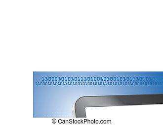 informatique, tablette, curseur, crédit, vecteur, bureau, carte