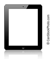 informatique, tablette, réaliste, isolé, arrière-plan., vecteur, eps10, blanc