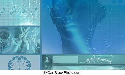 informatique, technologie, écrans, animation