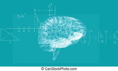 informatique, technologie, animation, cerveau