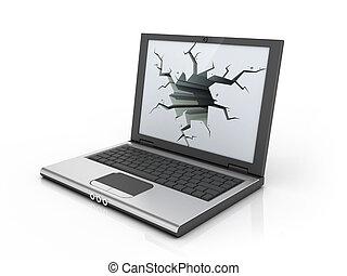 informatique, tension, -, frustration