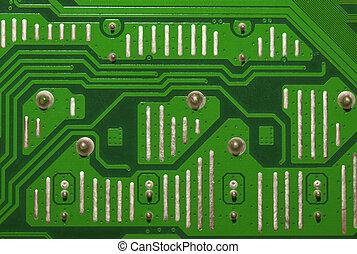 informatique, vert, planche,  circuit