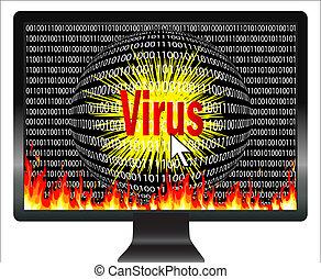 informatique, virus, prendre garde