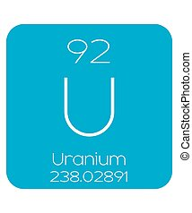 Informative Illustration of the Periodic Element - Uranium -...