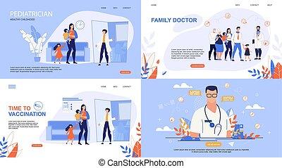Informative Poster Inscription Online Doctor. Set Banner is ...