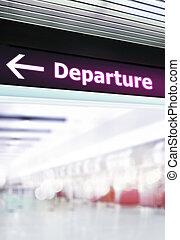 informazioni, aeroporto, turista, signage