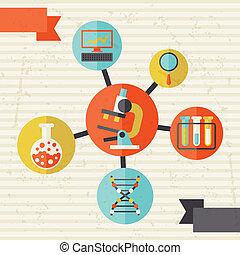 informazioni, appartamento, concetto, scienza, grafico, disegno, stile
