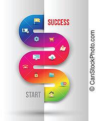 informazioni, astratto, affari, grafica