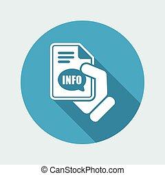 informazioni, bottone, icona