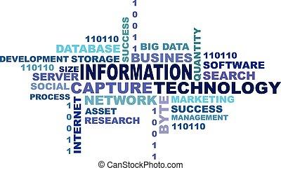 informazioni, concetto, tecnologia