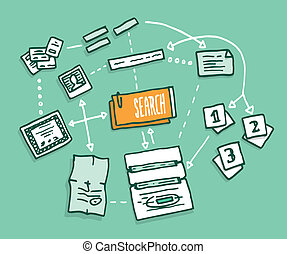 informazioni digitali, dati, algorithm, assemblea, ricerca