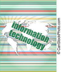 informazioni digitali, tecnologia, concetto, fondo