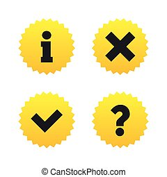 informazioni, faq, domanda, simbolo., icons.