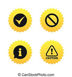 informazioni, fermata, icons., proibizione, simbolo.