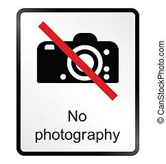 informazioni, fotografia, no, segno