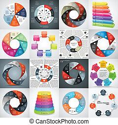 informazioni, grafico, affari, moderno, progetto, vettore