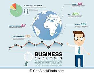 informazioni, grafico, affari