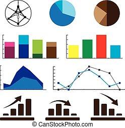 informazioni, illustration., infographic, dettaglio, grafica