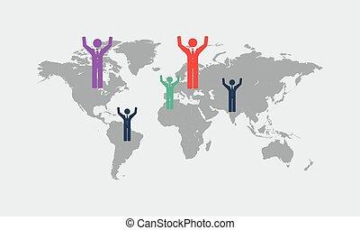 informazioni, mappa, dettaglio,  infographic, grafica, mondo