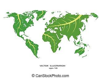 informazioni, mappa, gr, eco, stilizzato, mondo