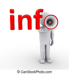 informazioni, megafono, comleting