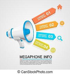 informazioni, megafono