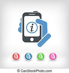 informazioni, mobile, congegno
