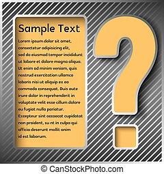 informazioni, o, questions., pannello, segno