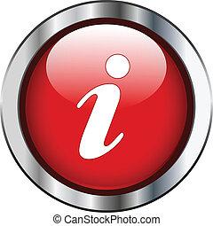 informazioni, rosso, icona