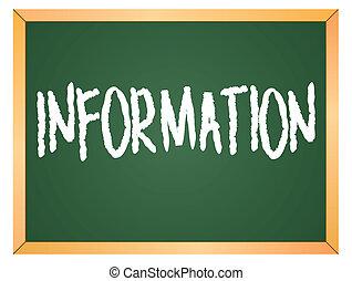 informazioni, scritto, su, lavagna