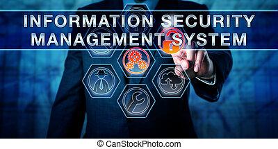 informazioni, sicurezza, toccante, amministrazione, sistema