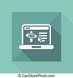 informazioni, sito web, icona