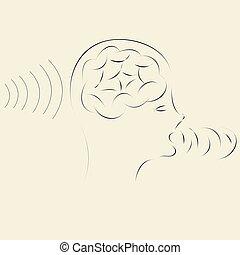 informazioni, trasmettere, elaborazione, cervello, ricezione, tecnologia, far male