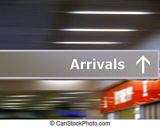 informazioni, turista, arrivi, signage