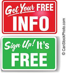 informazioni, web, su, libero, segno, segni, negozio
