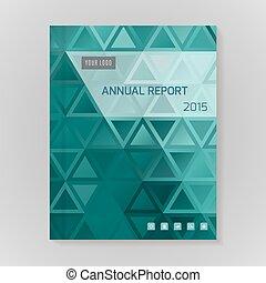 informe, anual, cubierta, ilustración