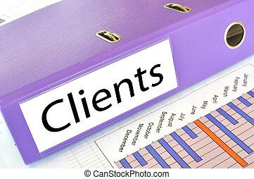 informe, carpeta, clientes, mercado