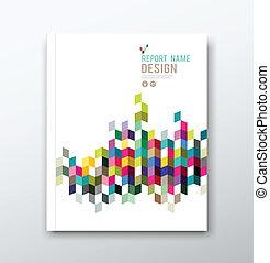 informe, cubierta, diseño geométrico
