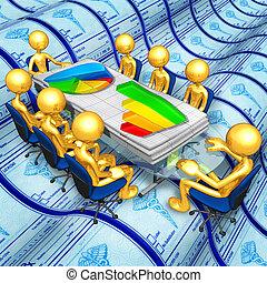 informe, reunión, empresa / negocio, médico