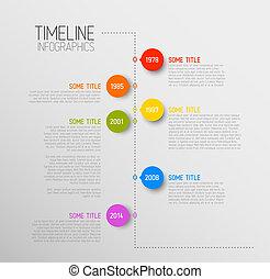 informe, timeline, infographic, plantilla