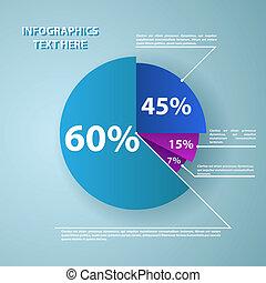 informes, documentos, pastel, empresa / negocio, gráfico
