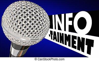 Infotainment Microphone Entertainment Information 3d Illustration