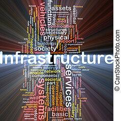 infraestructura, plano de fondo, concepto, encendido
