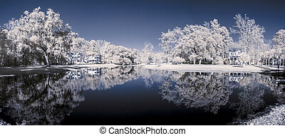 infrared 180 degree panorama - color infrared 180 degree...