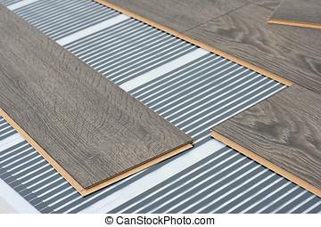 infrared floor heating system under laminate floor