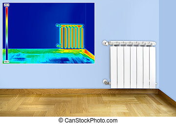 Infrared image of Radiator