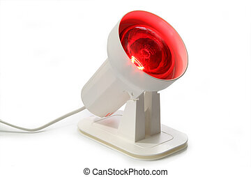 Infrared lamp - Warming lamp for the light therapy on bright...