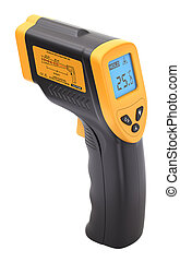 Infrared laser thermometer isolated on white background